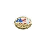 New 9-11 Commemoration - WTC Never Forget - American Flag  Lapel Pin