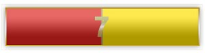 7 Years Of Service Red And Yellow Citation Bar