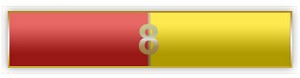 8 Years Of Service Red And Yellow Citation Bar