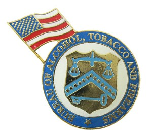Bureau of Alcohol, Tobacco and Firearms with U.S. Flag ATF Lapel Pin