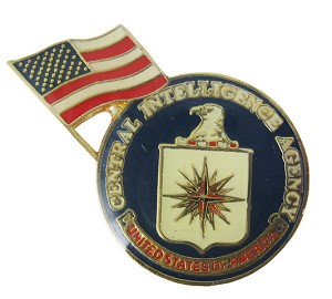 Central Intelligence Agency with U.S. Flag CIA Lapel Pin